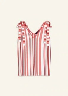 Ann Taylor Striped Tie Shoulder Sweater Tank