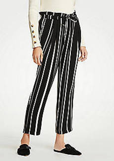 Ann Taylor Striped Tie Waist Ankle Pants