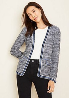 Ann Taylor Striped Trim Sweater Jacket