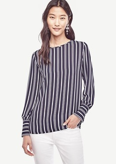 Striped Wide Cuffed Blouse
