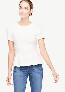 Structured Bubble Sleeve Top