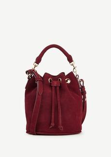 Ann Taylor Suede Mini Bucket Bag