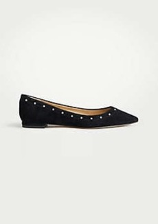 Ann Taylor Sylvia Pearlized Suede Flats
