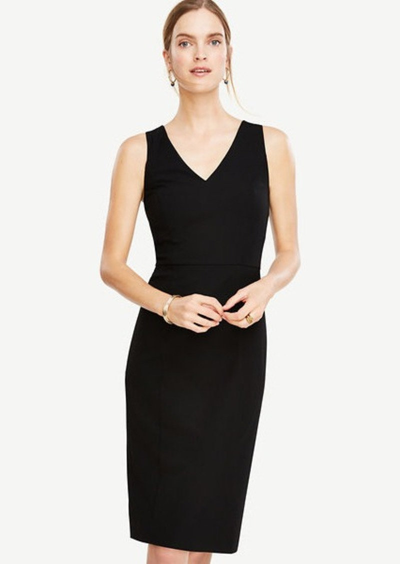 Ann Taylor Tall Seasonless Stretch Seamed Sheath Dress