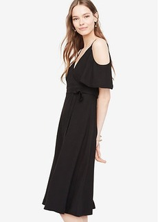 Tall Cold Shoulder Faux Wrap Dress