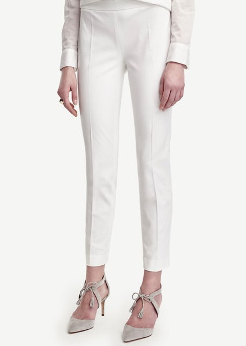 Ann Taylor Tall Cotton Blend Slim Ankle Pants