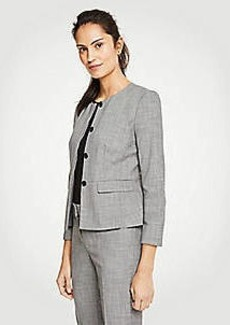 Ann Taylor Tall Crosshatch Peplum Jacket