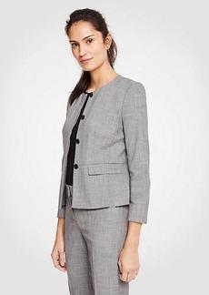 Ann Taylor Tall Crosshatch Peplum Jacket