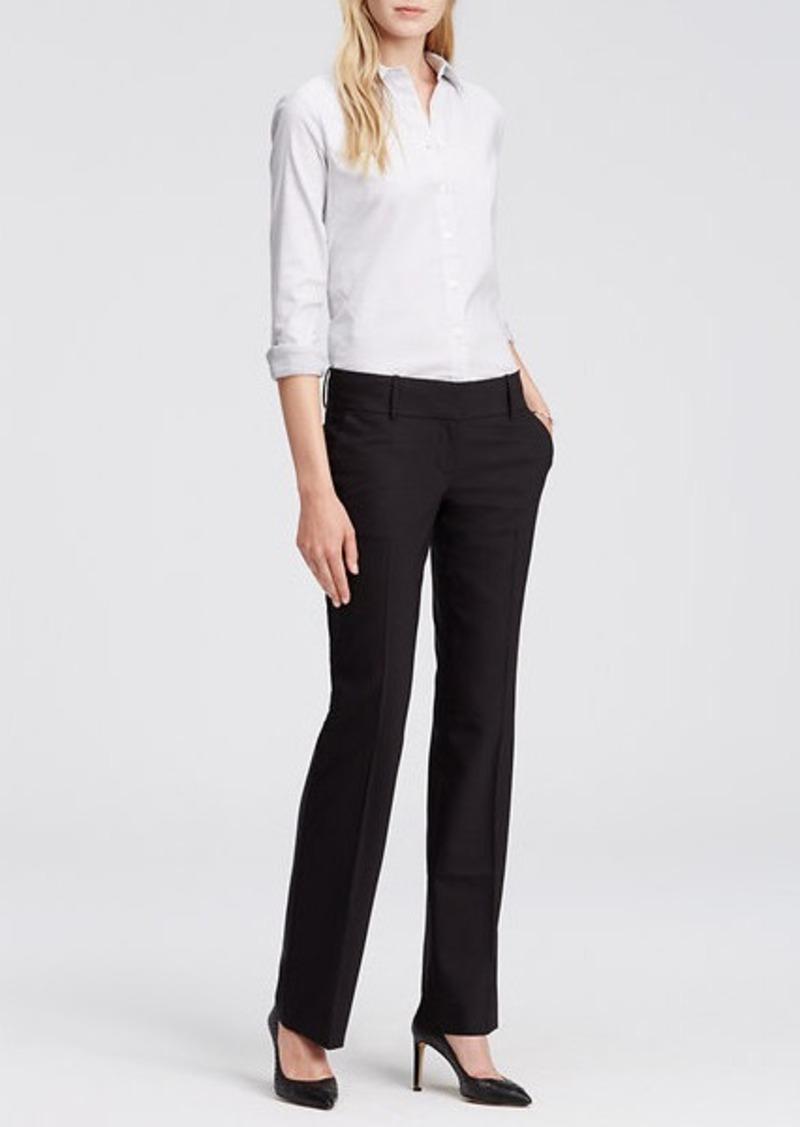 Ann Taylor Tall Devin Tropical Wool Trousers
