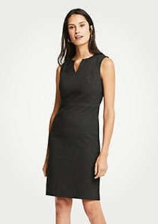 Ann Taylor Tall Dobby Split Neck Sheath Dress