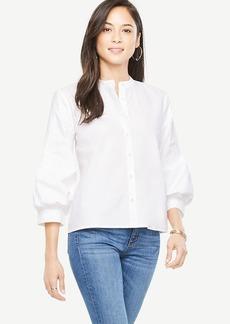 Tall Poplin Puff Sleeve Shirt