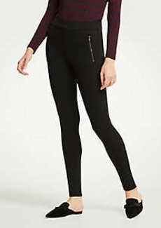 Ann Taylor Tall Scuba Zip Pocket Leggings