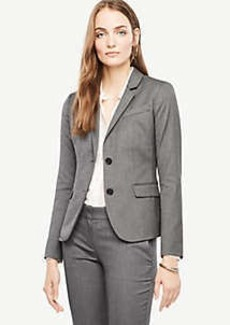 Ann Taylor Tall Sharkskin Two Button Jacket