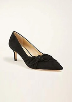 Ann Taylor Teagan Side Bow Suede Pumps