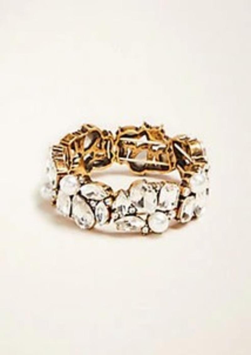 Ann Taylor Teardrop Crystal Stretch Bracelet