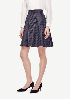 Ann Taylor Texture Dot Pleated Skirt