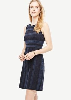 Texture Stitch Flare Dress