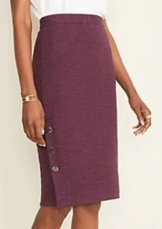 Ann Taylor Textured Button Pencil Skirt