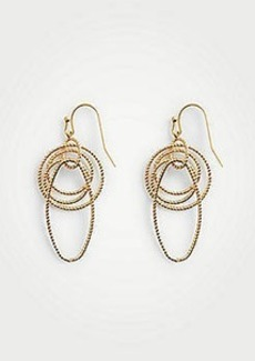 Ann Taylor Textured Chain Link Earrings