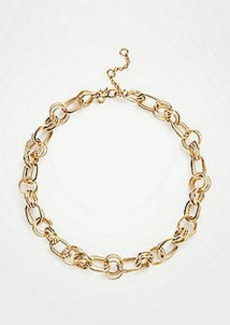 Ann Taylor Textured Chain Link Necklace