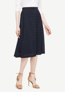 Ann Taylor Textured Dot Midi Skirt