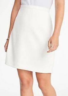 Ann Taylor Textured Jacquard A-Line Skirt