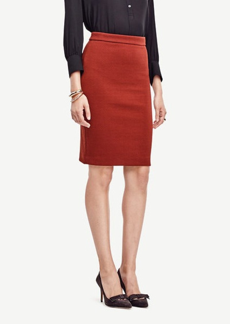 Ann Taylor Textured Knit Pencil Skirt