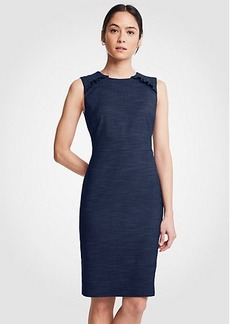 Ann Taylor Textured Ruffle Sheath Dress