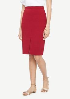 Ann Taylor Textured Slit Pencil Skirt