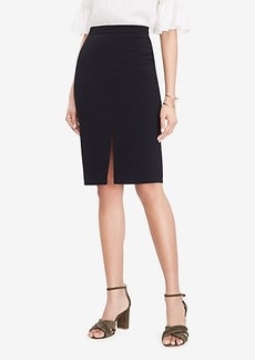 Ann Taylor Textured Slit Pencil Skirt