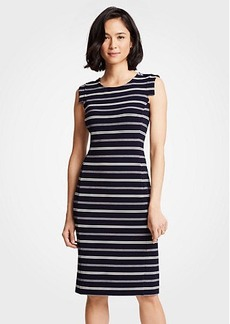 Ann Taylor Textured Stripe Sheath Dress