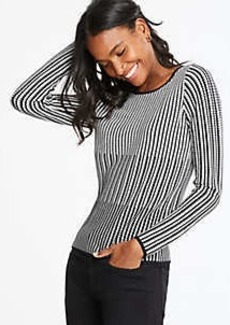 Ann Taylor Textured Stripe Sweater