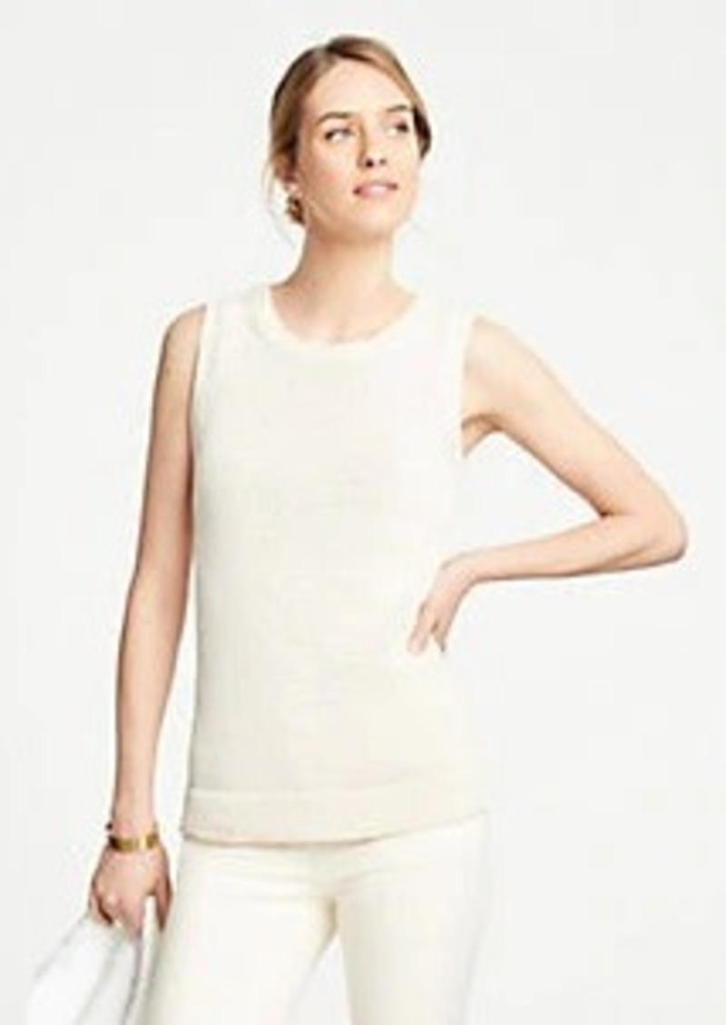 Ann Taylor Textured Sweater Shell