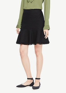 Ann Taylor Textured Trim Flounce Skirt