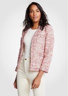 Ann Taylor Textured Tweed Cardigan Jacket