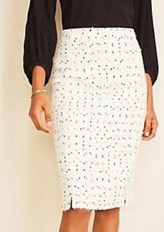 Ann Taylor Textured Tweed Pencil Skirt