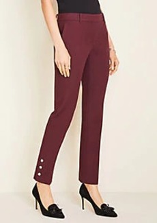 Ann Taylor The Ankle Pant In Button Hem - Curvy Fit