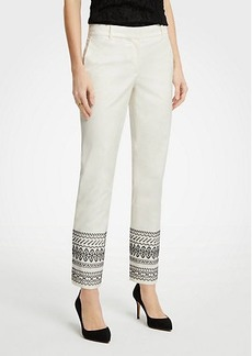 Ann Taylor The Ankle Pant In Embroidery - Curvy Fit