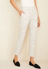 Ann Taylor The High Waist Ankle Pant in Plaid Tweed - Curvy Fit