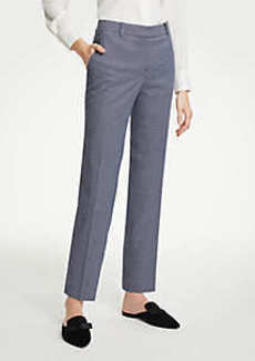 Ann Taylor The Ankle Pant In Shimmer Houndstooth