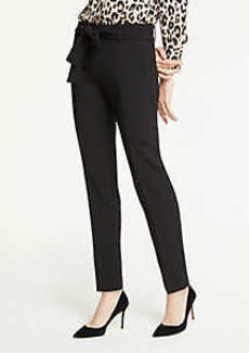 Ann Taylor The Ankle Pant With Tie Waist