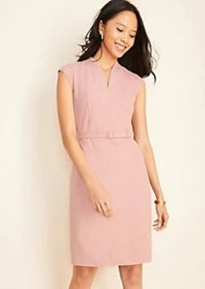 Ann Taylor The Belted Sheath Dress in End on End