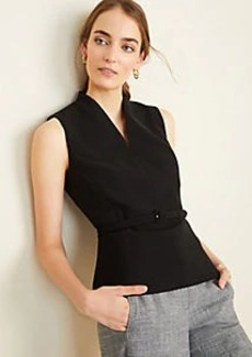 Ann Taylor The Belted Top in Doubleweave