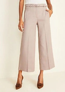 Ann Taylor The Belted Wide Leg Marina Pant in Glen Plaid