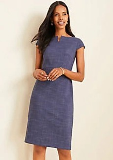 Ann Taylor The Boatneck Dress in Crosshatch
