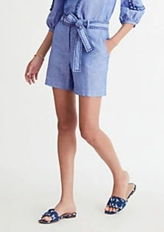 Ann Taylor The Chambray Belted Short