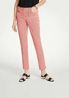 Ann Taylor The Cotton Crop Pant In Gingham