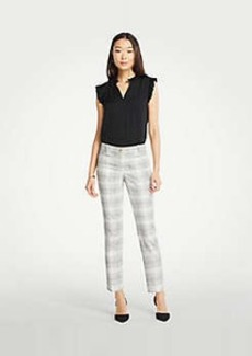 Ann Taylor The Cotton Crop Pant In Variegated Plaid