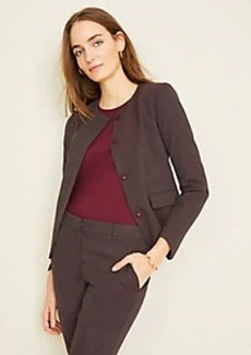 Ann Taylor The Crew Neck Jacket in Pindot