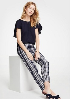 Ann Taylor The Crop Pant In Plaid - Curvy Fit